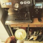Coffee with the sage dual boiler