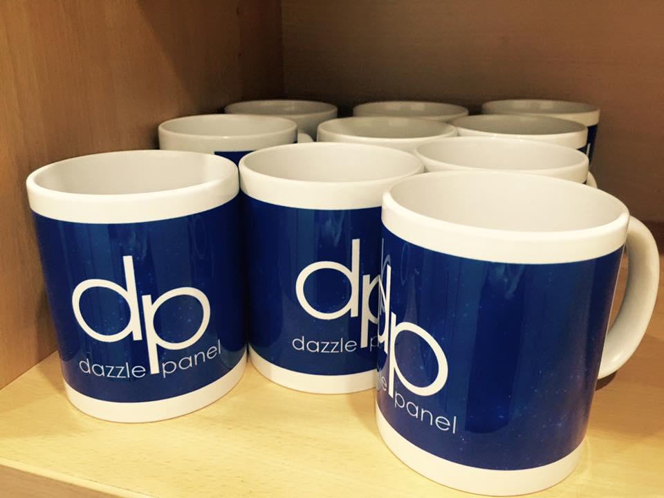 Custom printed mugs for Dazzle Panel
